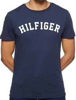 Tommy Hilfiger Logo Camiseta de Cuello Redondo